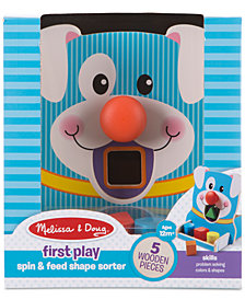 Melissa & Doug First Play Wooden Spin & Feed Shape Sorter