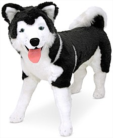 Melissa & Doug Lifelike Plush Giant Siberian Husky Dog