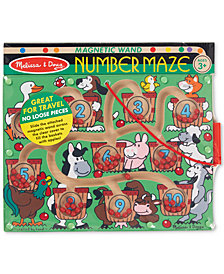Melissa & Doug Magnetic Wand Number Maze Wooden Puzzle Activity