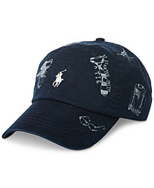 Polo Ralph Lauren Men's Printed  Baseball Cap