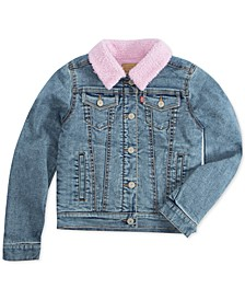 Big Girls Faux-Sherpa Lined Denim Jacket