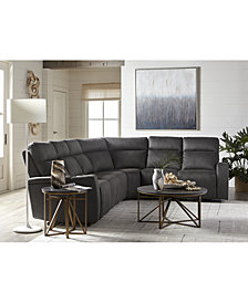 Oaklyn Fabric & Leather Sectional Collection With Power Recliners, Power Headrests and USB Power Outlet