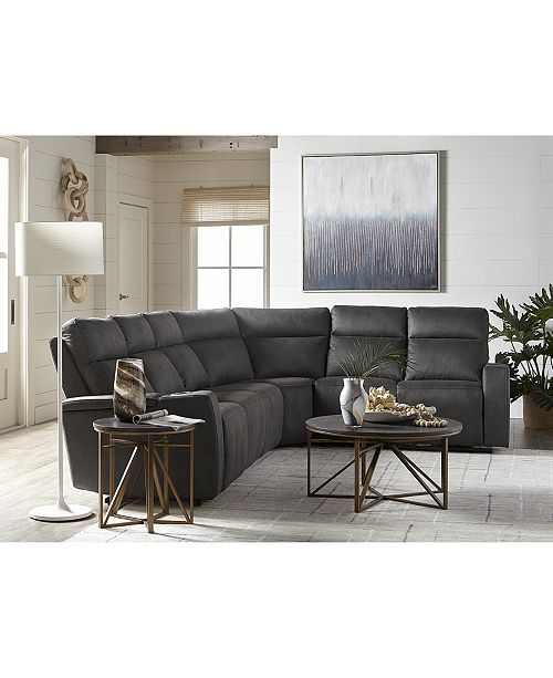 Furniture Oaklyn 5 Pc Fabric Sectional Sofa With 3 Power