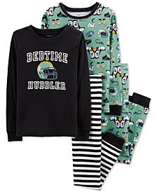 Carter's Little & Big Boys 4-Pc. Football Cotton Pajama Set