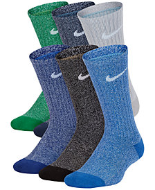 Nike Little Boys 6-Pk. Performance Cushioned Crew Training Socks