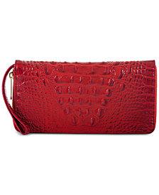 Brahmin Melbourne Skyler Embossed Leather Wallet