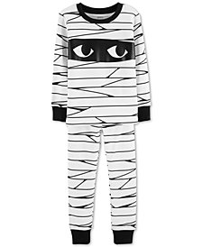 Carter's Toddler Boys 2-Pc. Mummy Glow-In-The-Dark Snug Fit Pajamas Set
