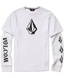 Volcom Big Boys Layered-Look Logo Shirt