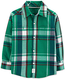 Carter's Toddler Boys Plaid Button-Front Shirt