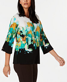 JM Collection Keyhole-Neck Tunic, Created for Macy's