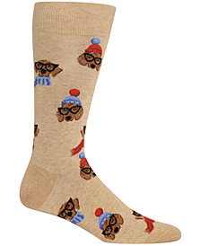 Hot Sox Men's Dressed Dogs Crew Socks