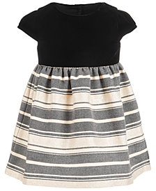 First Impressions Baby Girls Velvet Metallic Jacquard Dress, Created for Macy's