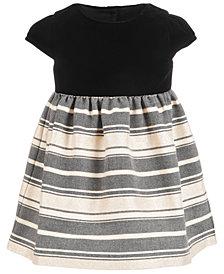 First Impressions Baby Girls Velvet Metallic Jacquard Dress, Created for Macy's