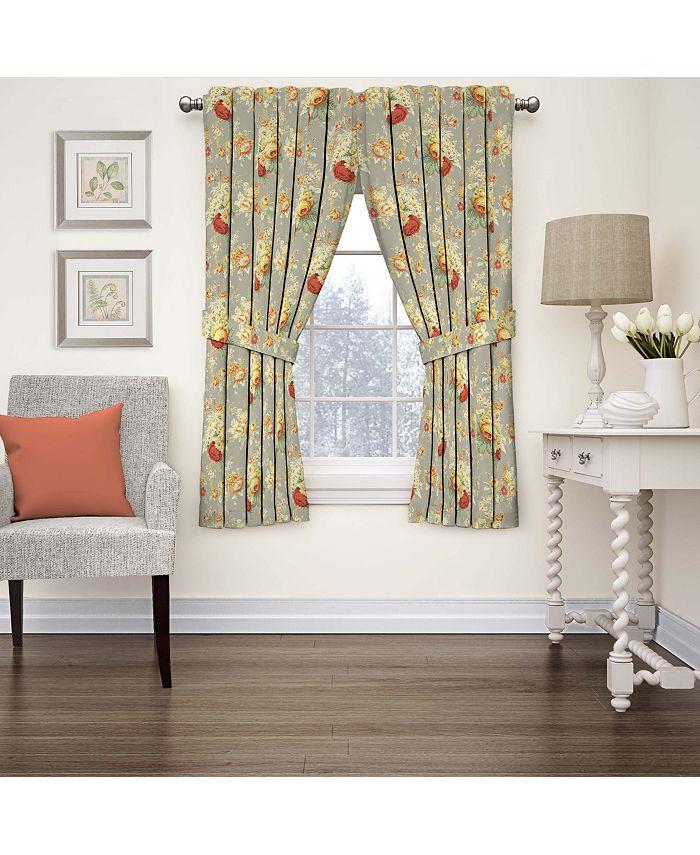 Waverly - Sanctuary Rose Floral Window Curtain