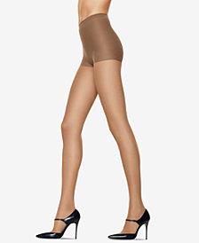 Hanes Women's 6pk Silk Reflections Control Top Sandalfoot Silky Sheers 717