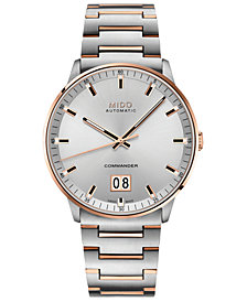Mido Men's Swiss Automatic Commander II BigDate Two-Tone Stainless Steel Bracelet Watch 42mm
