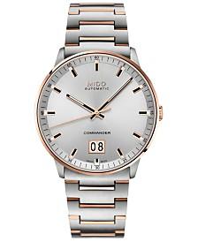 Mido Men's Swiss Automatic Commander II BigDate Two-Tone Stainless Steel Bracelet Watch 42mm