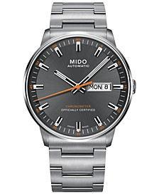 Men's Swiss Automatic Commander II Cosc Stainless Steel Bracelet Watch 40mm