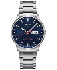 Mido Men's Swiss Automatic Commander II Cosc Stainless Steel Bracelet Watch 40mm