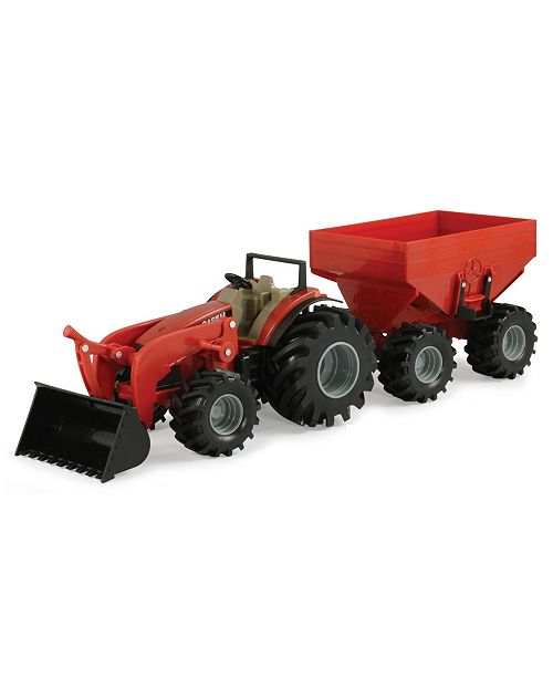 "TOMY - John Deere 8"" Monster Treads Tractor With Wagon And Loader"