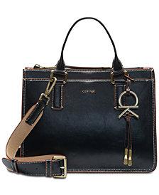 Calvin Klein Brynn Pebble Leather Satchel
