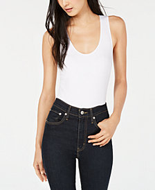 Bar III Scoop-Neck Sleeveless Bodysuit Top, Created for Macy's