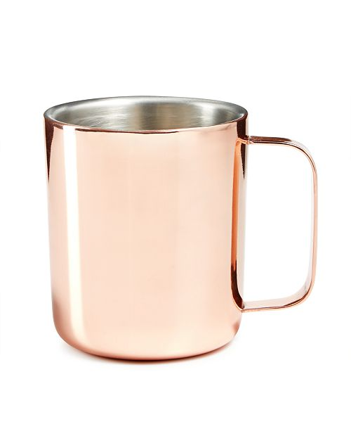 Hotel Collection Double Wall Mug (Copper), Created For Macy's