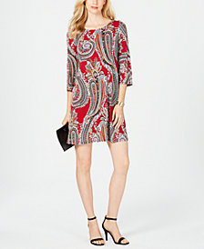 MSK Petite Paisley Shift Dress