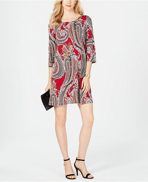16eef9f535755 MSK Petite Paisley Shift Dress & Reviews - Dresses - Petites - Macy's