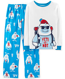 Carter's Little & Big Boys 2-Pc. Yeti Pajamas Set