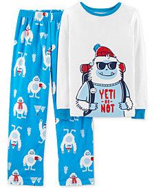 Carter's Little & Big Boys 2-Pc. Yeti Pajamas Set