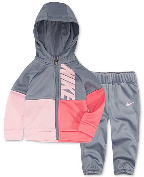 3557b20558e Nike Baby Girls 2-Pc. Colorblocked Hoodie & Pants Set & Reviews ...