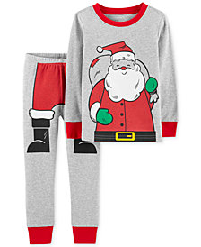 Carter's Baby Boys 2-Pc. Snug-Fit Santa Cotton Pajamas Set