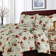 Madrid Printed Floral Oversized Queen Duvet Cover Set