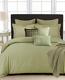 350 Thread Count Cotton Percale Oversized Queen Duvet Covet Set
