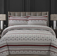 Snowmitten Cotton Flannel Printed Oversized Queen Duvet Set