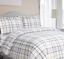 Modern Plaid Cotton Flannel Printed Oversized Duvet Sets
