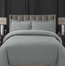 Cotton Flannel Solid Oversized Queen Duvet Set