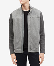 Calvin Klein Men's Colorblocked Knit Mock-Neck Jacket
