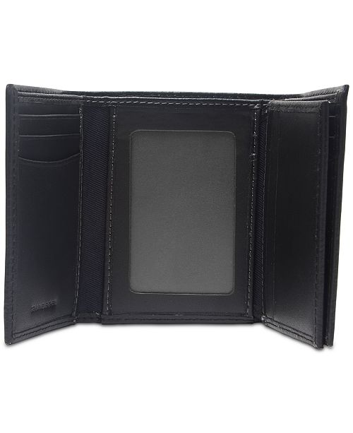 wholesale online clearance sale new cheap Men's Extra-Capacity RFID Leather Tri-Fold Wallet