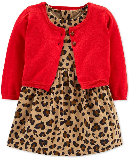 478d24564 ... Sweater Set; Carter's Baby Girls 2-Pc. Cotton Corduroy Dress & Sweater  ...