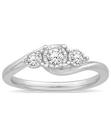 Diamond Three Stone Ring (1/4 ct. t.w.) in 14k White Gold