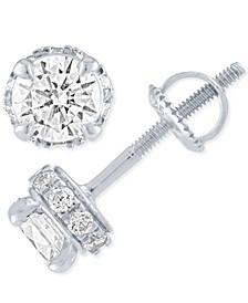 Diamond Stud Earrings ( 1 ct. t.w.) in 14k White Gold