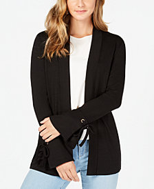 Charter Club Petite Tie-Cuff Cardigan, Created for Macy's