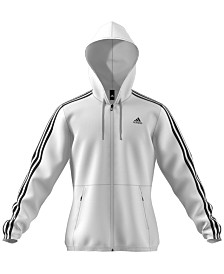 adidas Essentials Three-Stripe Hooded Windbreaker