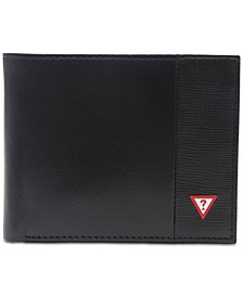 Men's Pieced-Leather RFID Wallet