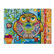 Oxana Ziaka 'Judaica Folk Owl' Canvas Art Collection