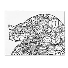Oxana Ziaka 'Lunch Cat 2' Canvas Art Collection