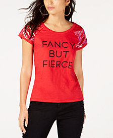 I.N.C. Fancy But Fierce T-Shirt, Created for Macy's