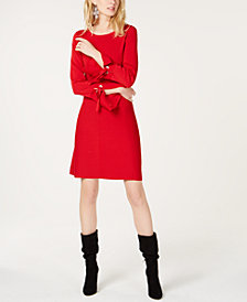 I.N.C. Petite Grommet-Detail Sweater Dress, Created for Macy's